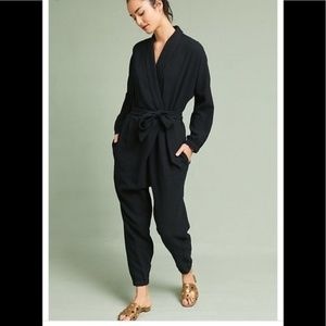 ANTHROPOLOGIE HEI HEI   Benna Wrap Jumpsuit Cotton